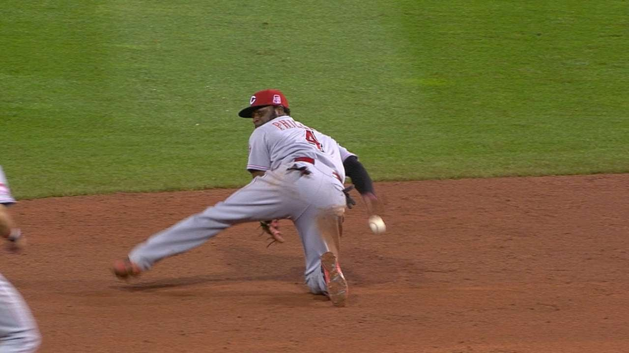 Wow: Brandon Phillips starts DP with behind-the-back flip