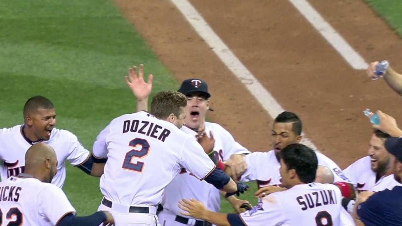 Brian Dozier belts a 3-run walk off homer in the 9th