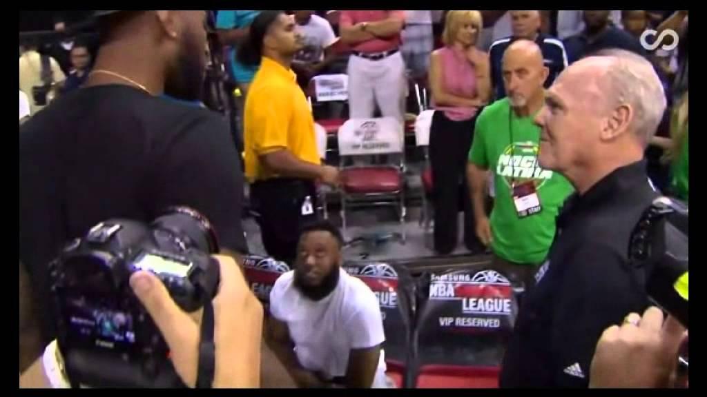 Crazy Awkward: George Karl & DeMarcus Cousins shake hands in Summer League