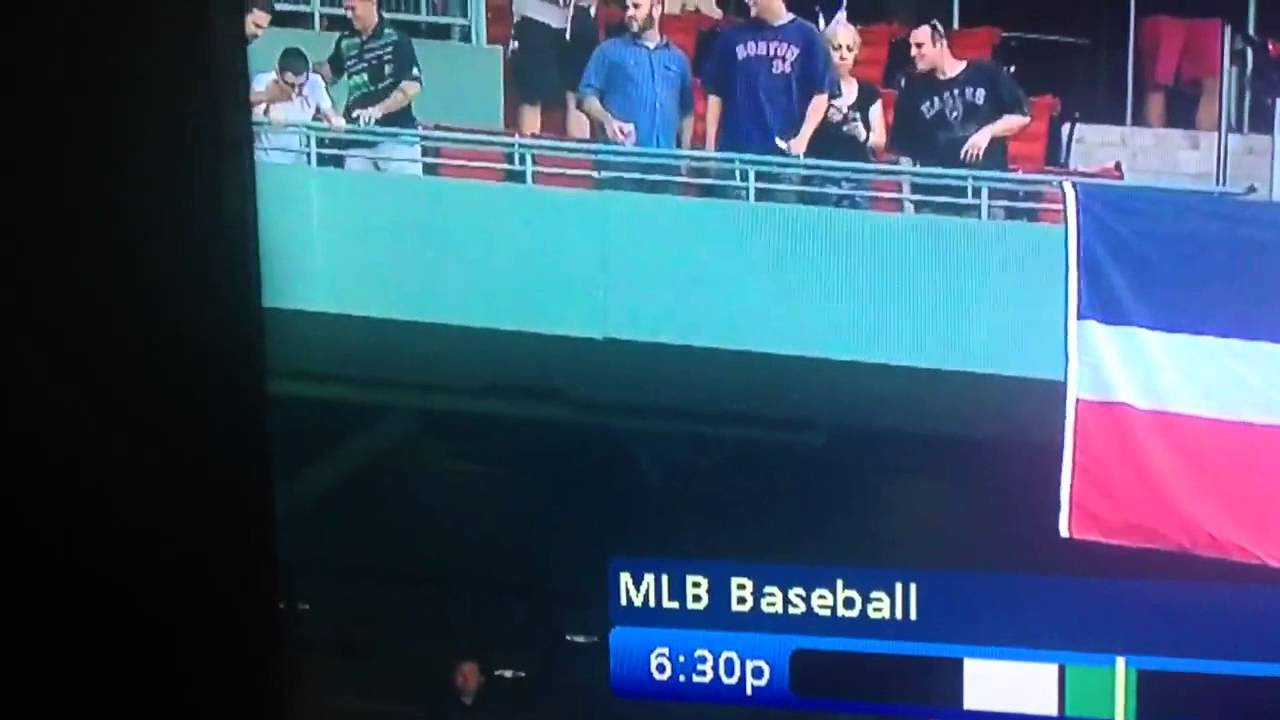 Damn Bro: Red Sox fan pukes on people in the level below him (*Viewer Warning*)