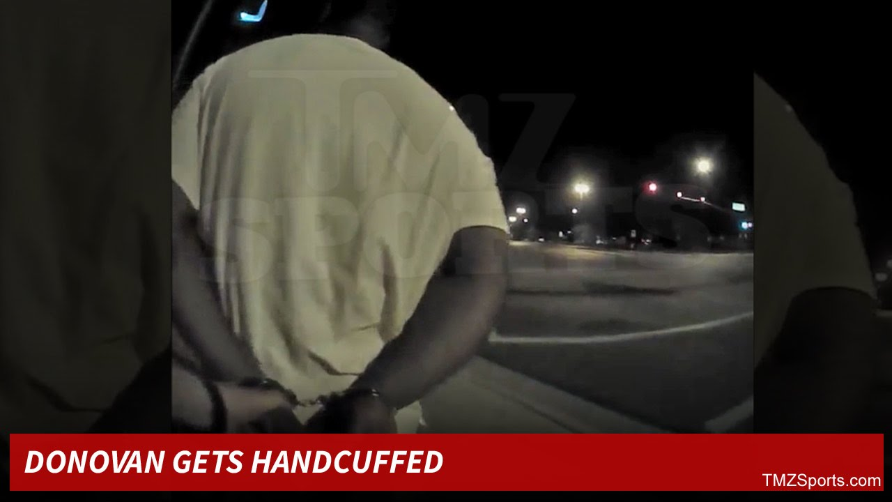 Donovan McNabb put into handcuffs for a DUI arrest