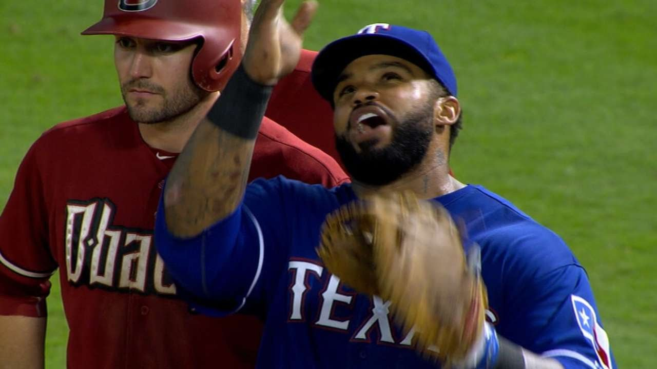 Jokes: Rougned Odor calls off Prince Fielder on a popup hit right to Prince