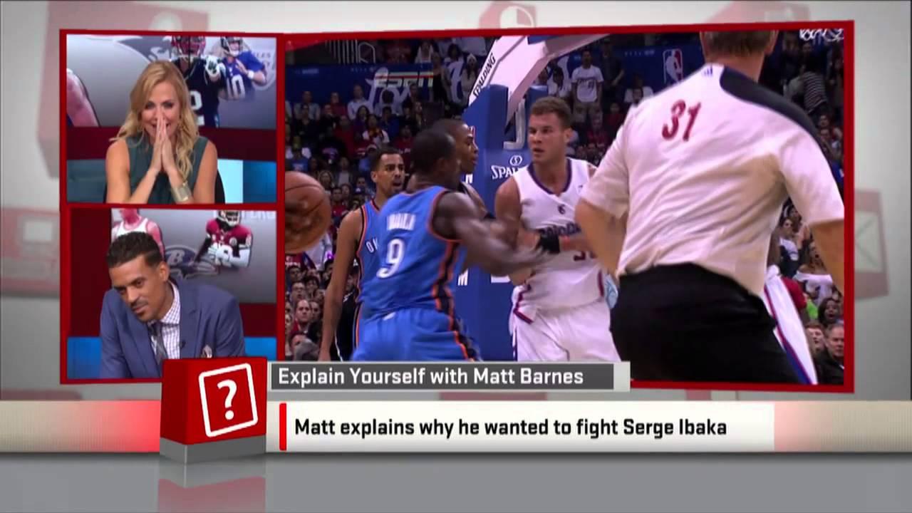 Matt Barnes says he would fight Serge Ibaka on Live TV