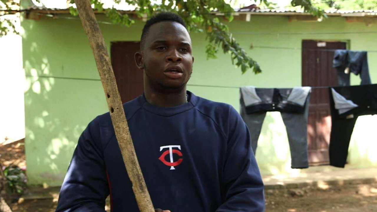 Miguel Sano on learning to bat using tree branches