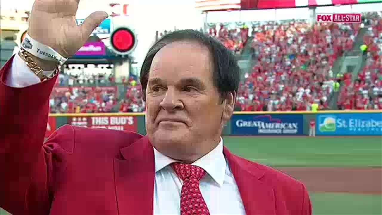Pete Rose receives huge ovation at All-Star Game