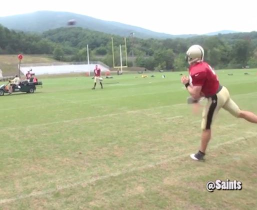 Drew Brees' shows of accuracy in Saints training camp