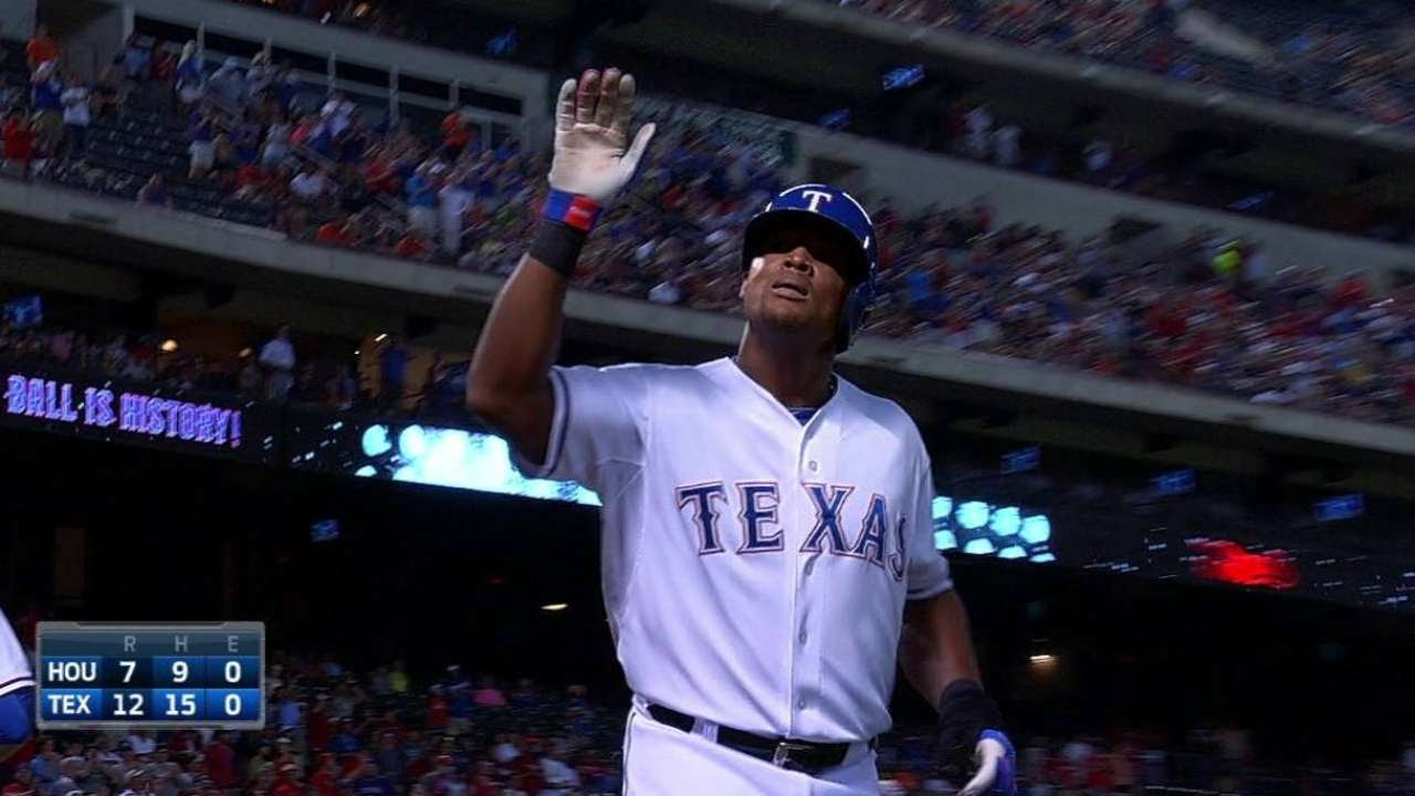 Adrian Beltre homers to complete third career cycle