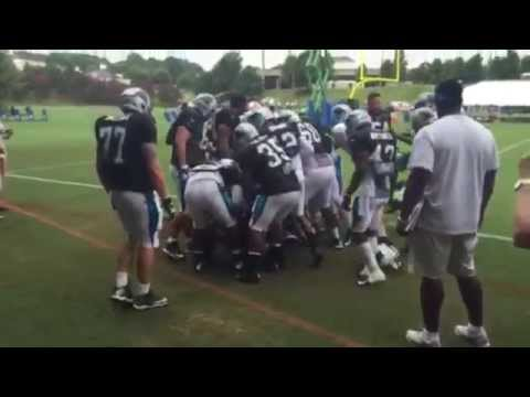 Cam Newton & Panthers teammate Josh Norman get into scuffle