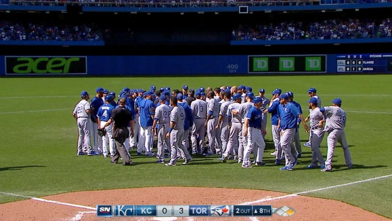 Hot In The 6: Kansas City & Toronto benches clear after multiple HBP's