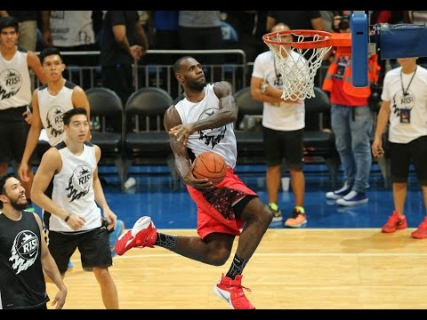 LeBron James throws down a fury of dunks in Manila, Philippines