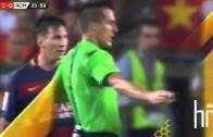 Leo Messi headbutts & chokes Mapou Yanga-Mbiwa vs Roma