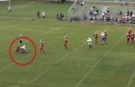 Impressive: Middle School QB avoids sack & throws TD pass down field