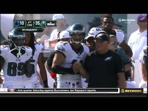Tim Tebow scores his first touchdown as a member of the Eagles