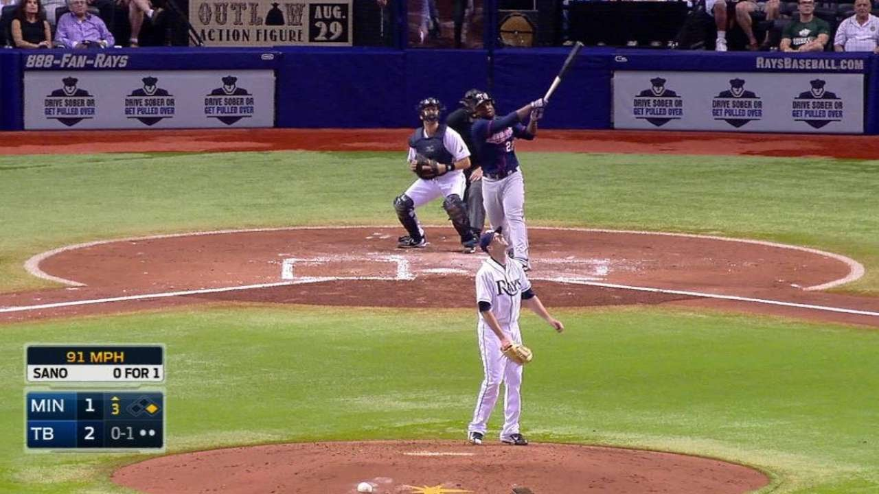Weird Stuff: Miguel Sano smashes a ball off catwalk & only gets double