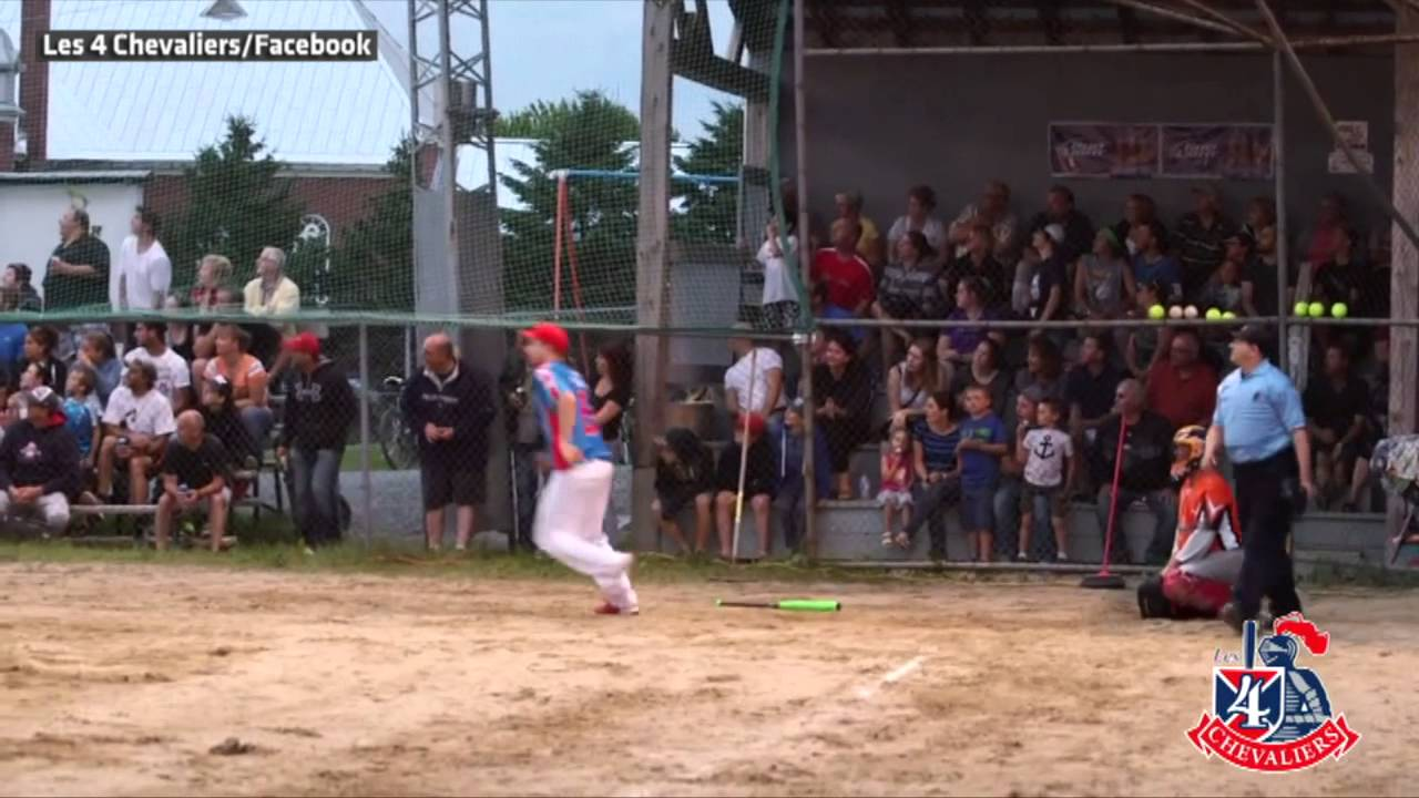 Wow: The backwards home run in a softball game