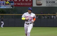 Yoenis Cespedes puts up a video game stat line of 3 homers & 7 RBI