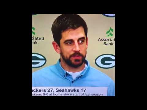 Aaron Rodgers says
