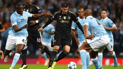 Alvaro Morata curls one from distance to give Juventus 2-1 win