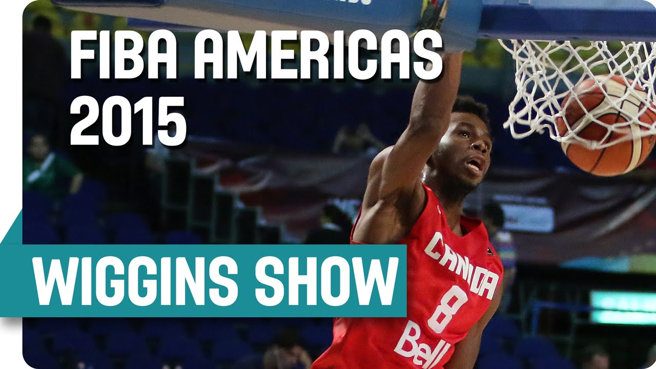 Andrew Wiggins puts on a dunking show against Uruguay