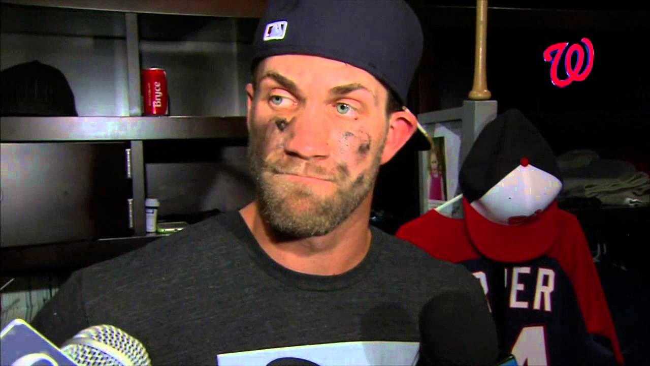 Bryce Harper talks about the altercation between Jonathan Papelbon