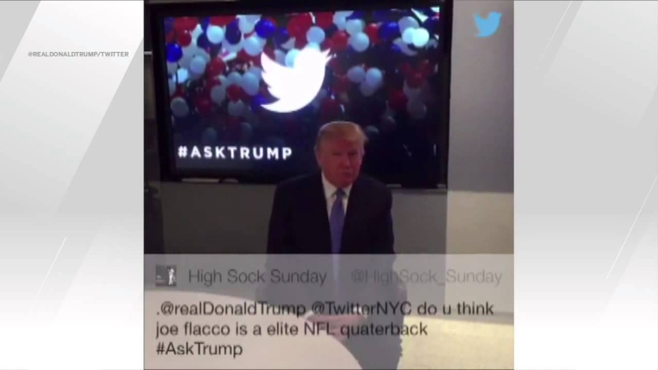 Donald Trump believes the Ravens' Joe Flacco is an elite quarterback
