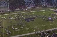 Foul: Kansas State band makes the Kansas Jayhawk take it in the mouth!
