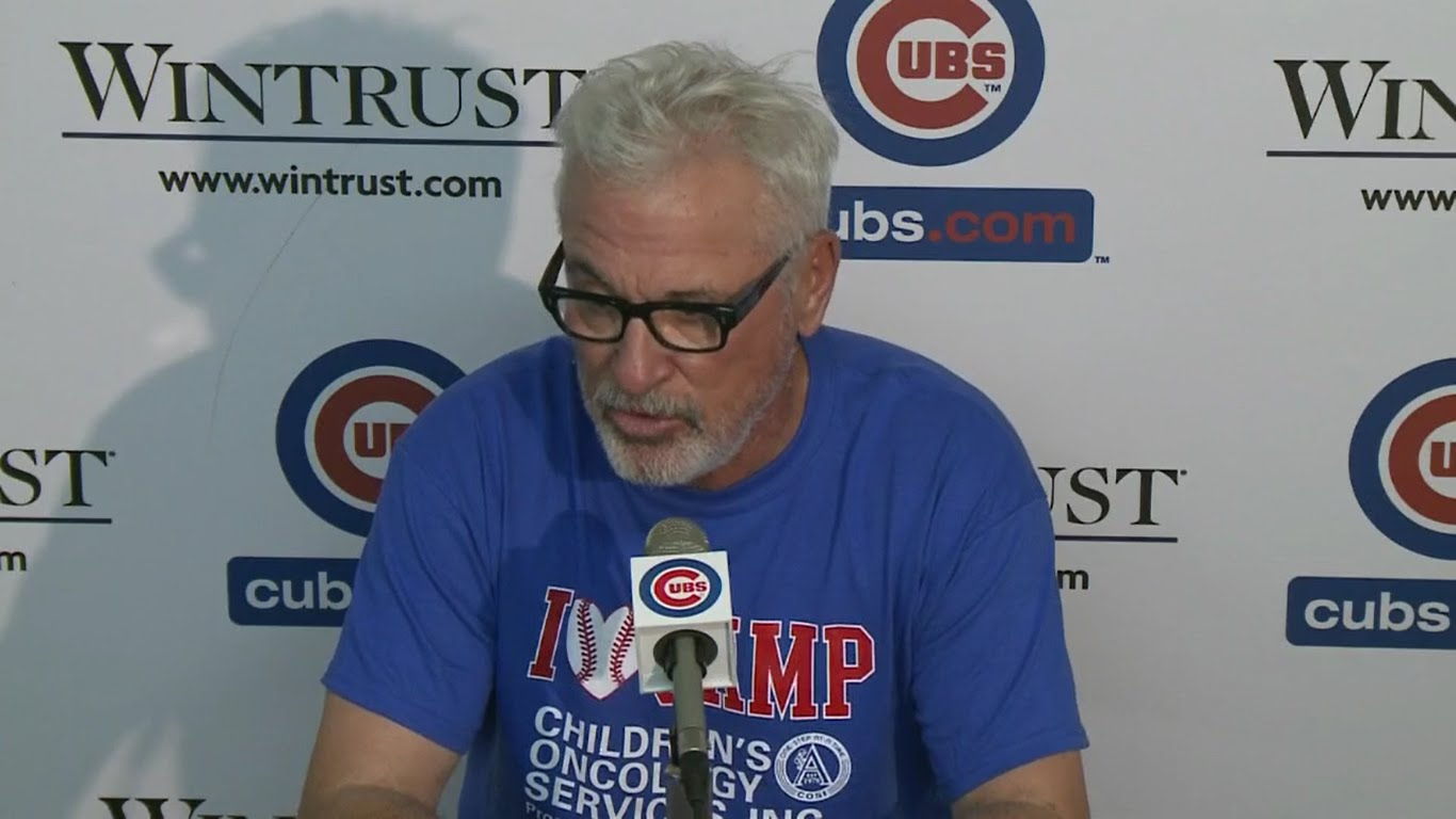 Joe Maddon calls out the St. Louis Cardinals for Rizzo HBP