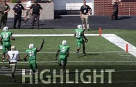 Marshall safety Tiquan Lang has a 17 tackle & 2 INT performance