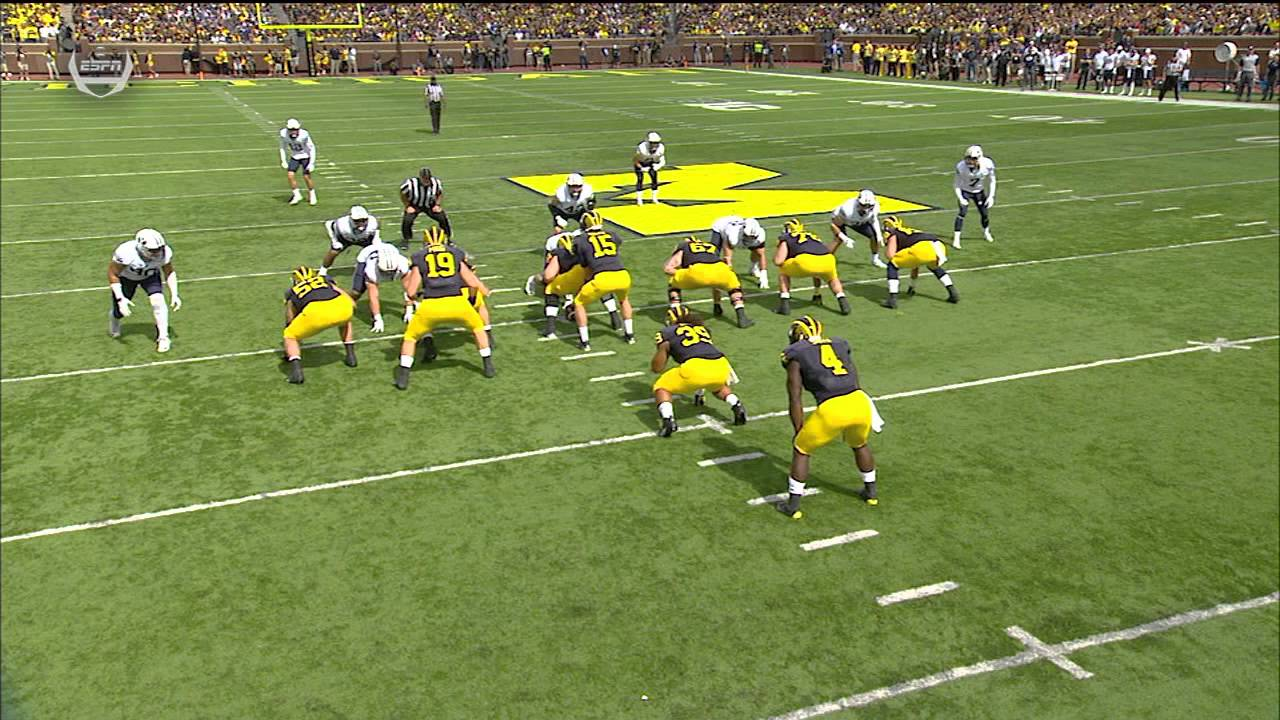 Michigan RB De'Veon Smith goes beast mode for 60 yard TD