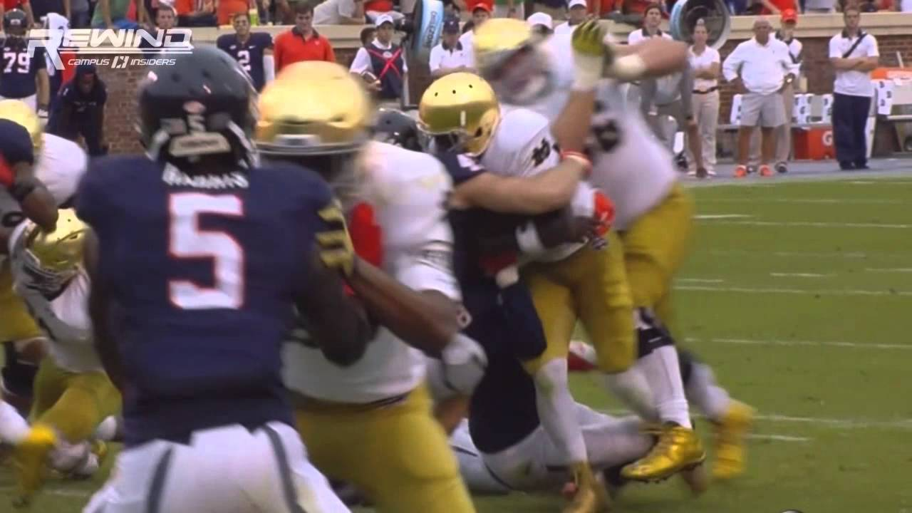 Notre Dame QB Malik Zaire suffers gruesome ankle injury