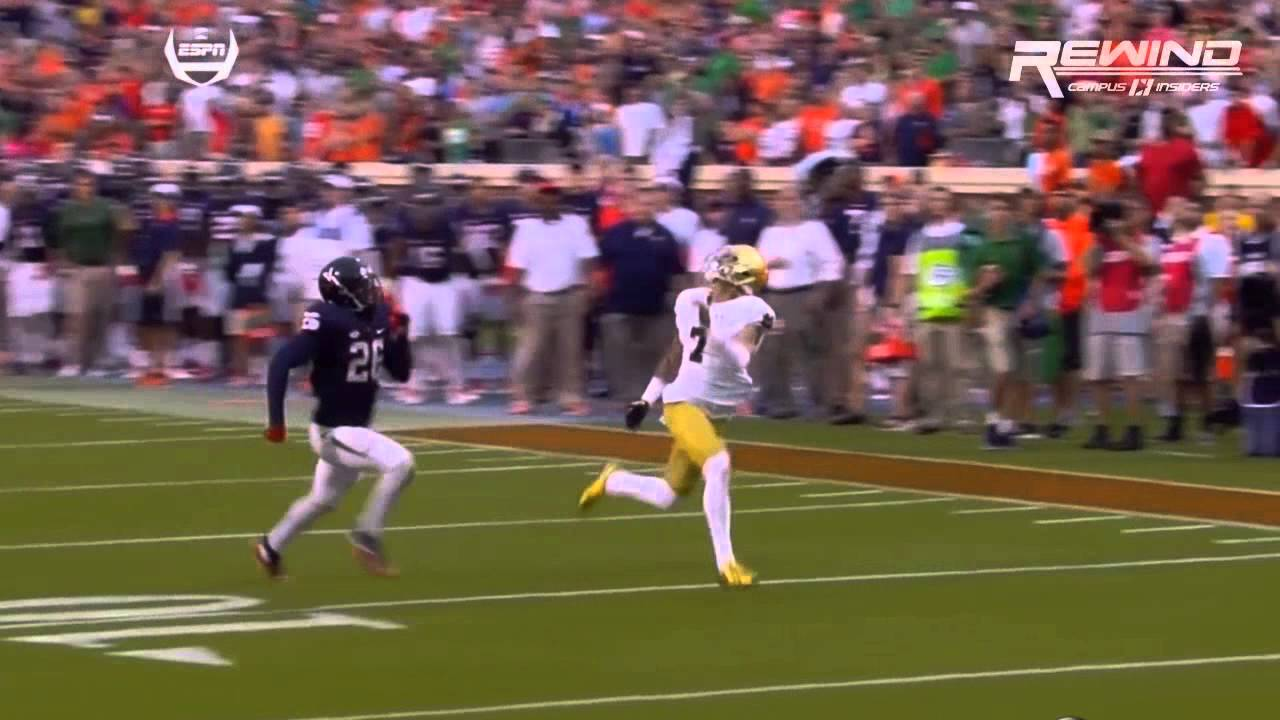 Notre Dame stuns Virginia with last second touchdown
