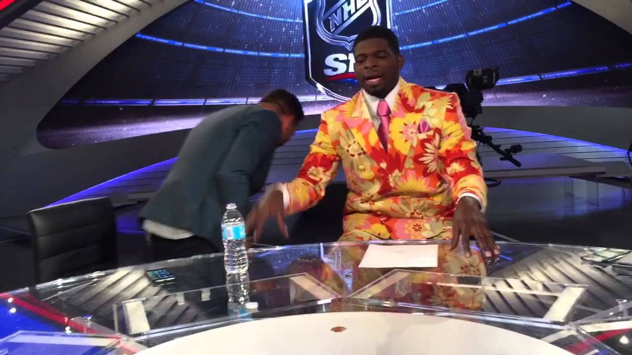 PK Subban with a good impression of Don Cherry