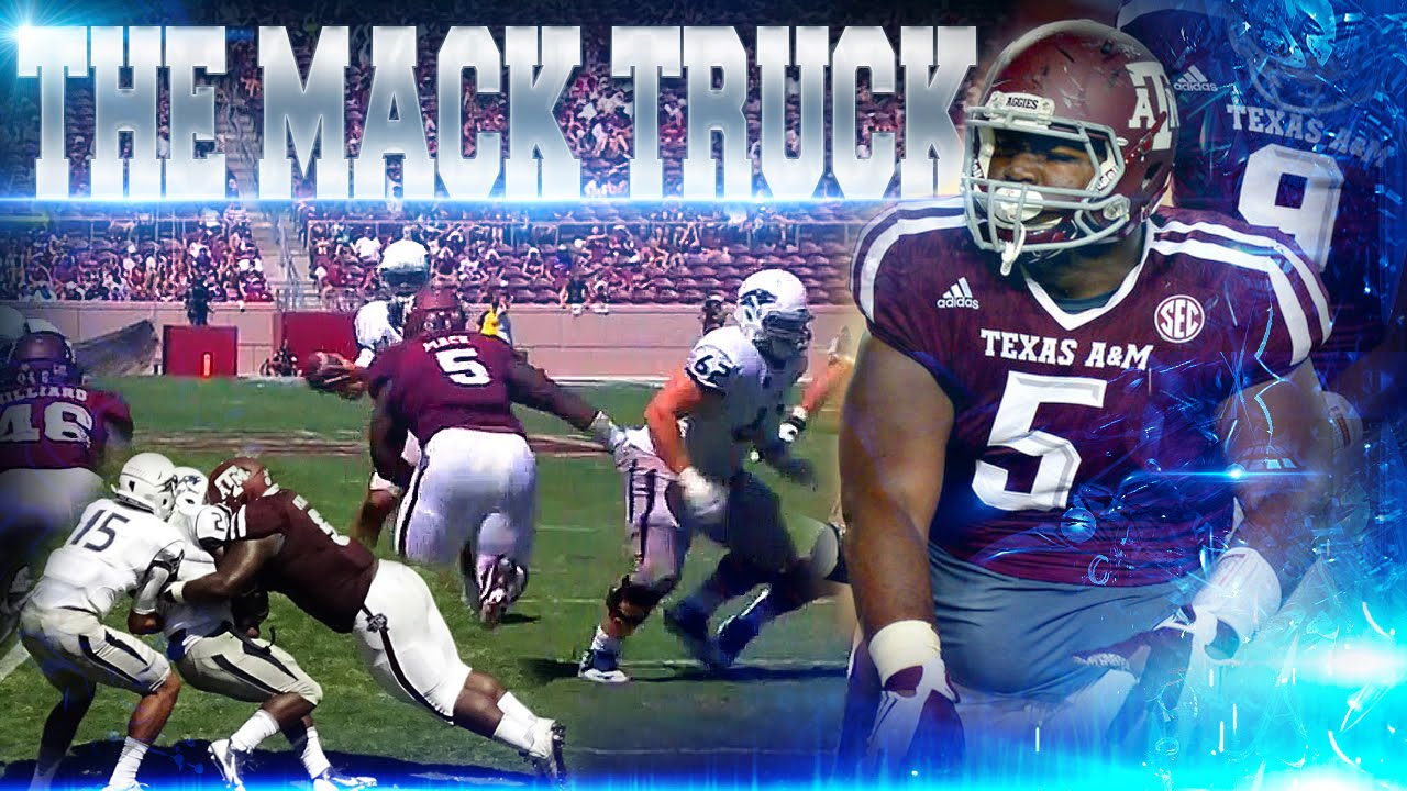 Texas A&M DT Daylon Mack blows up Nevada RB & QB at the same time!