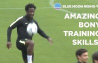 Wilfried Bony amazing skills in during Manchester City training