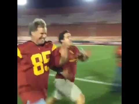 Will Ferrell beats a fan in a 40-Yard Dash after USC game