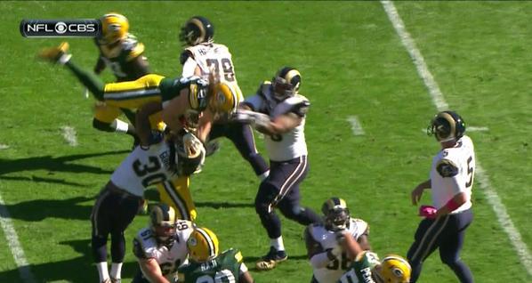 Todd Gurley slams Clay Matthews to the turf