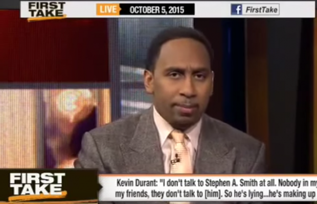 Stephen A. Smith threatens Kevin Durant!