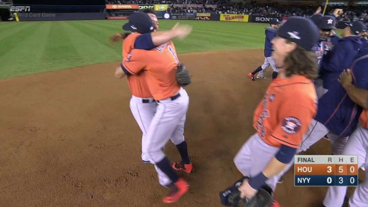 Astros seal win to advance to ALDS vs. Royals