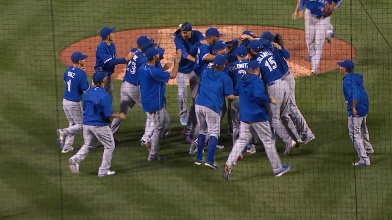 Blue Jays clinch the AL East division title