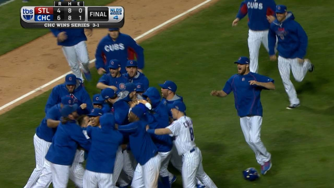 Chicago Cubs clinch at Wrigley Field for the first time ever