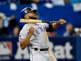 Delino DeShields bat hits his mouth on failed bunt attempt