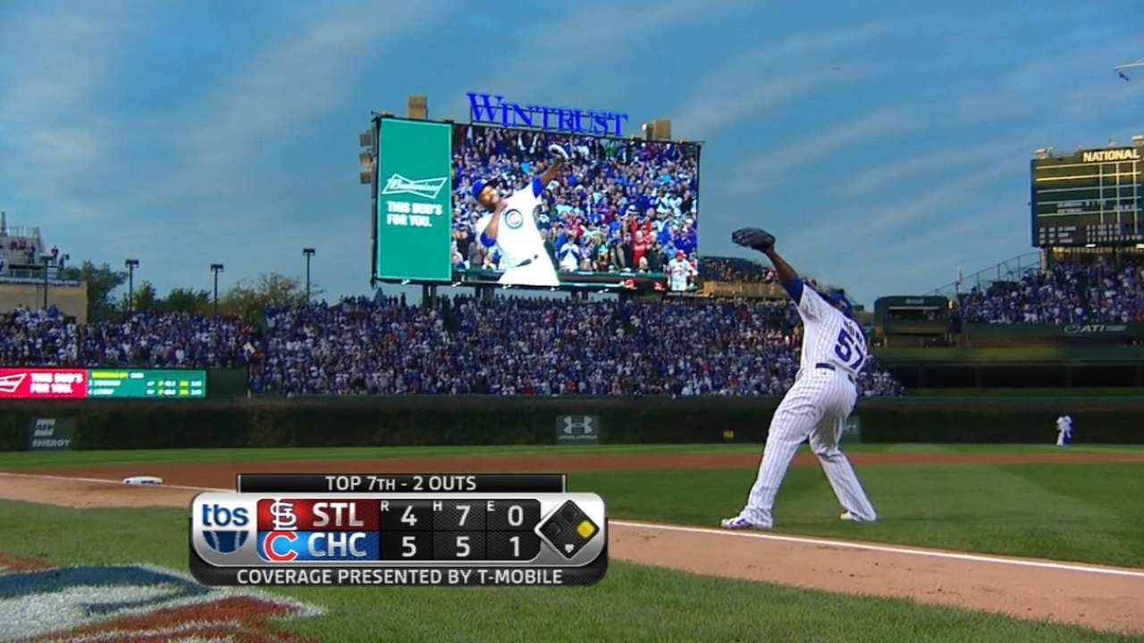 Fernando Rodney fires arrow as he is taken out of the game