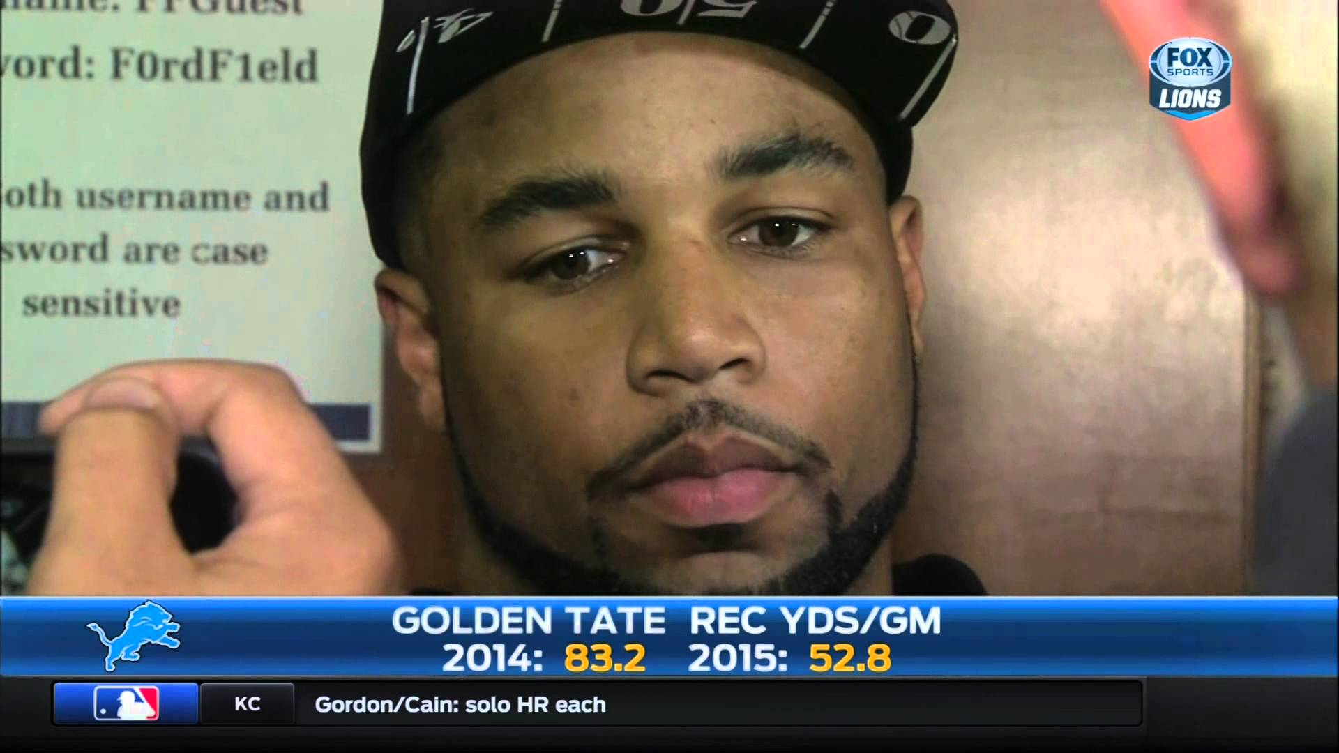 Golden Tate says Lions fans