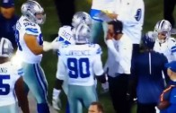 Greg Hardy gets in argument with Dez Bryant & Cowboys coaching staff