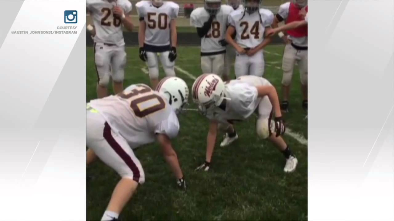 High schooler drops 'RKO' during football practice