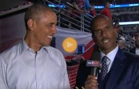 President Obama talks Chicago Bulls basketball