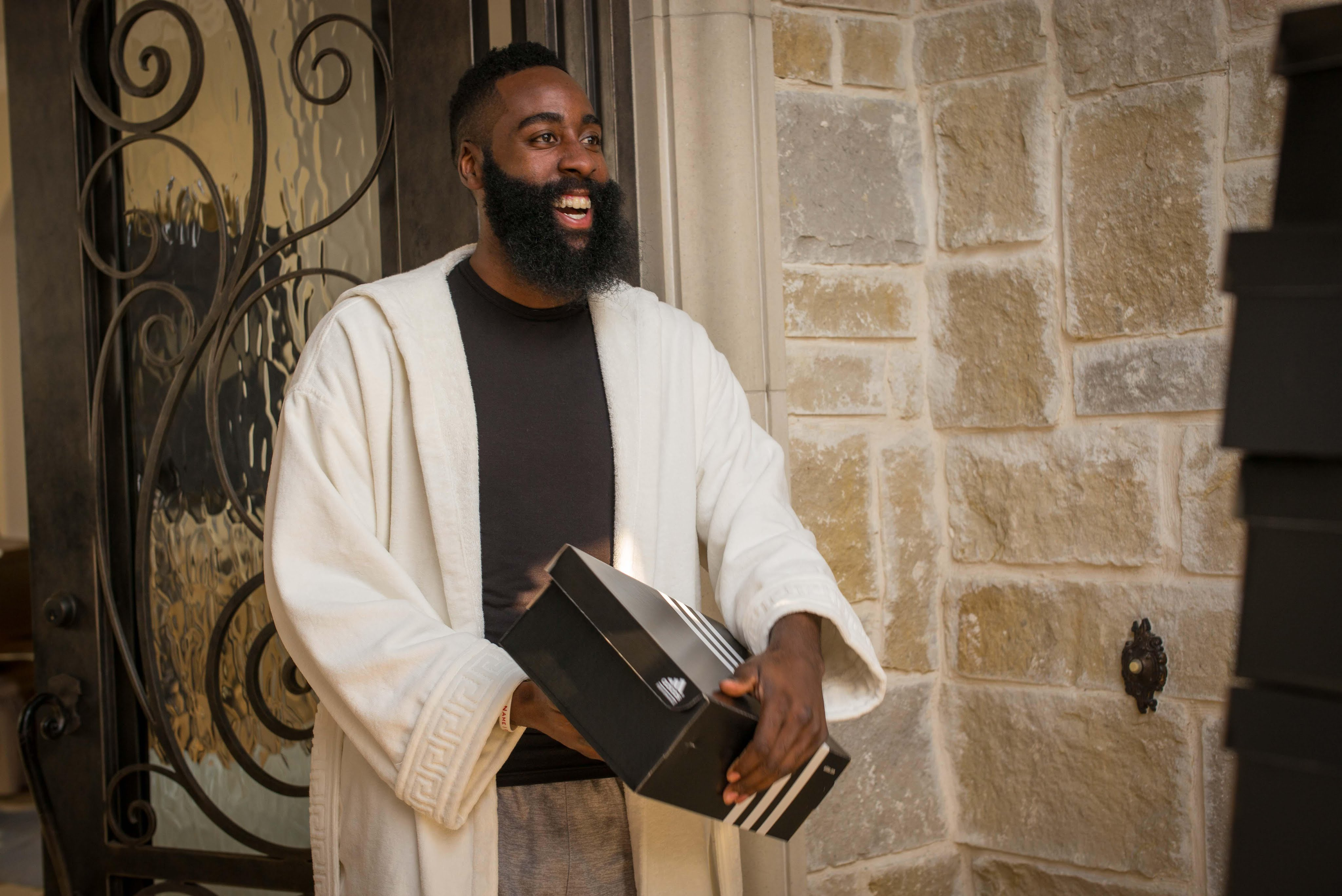 James Harden gets a truck full of Adidas shoes in new commercial
