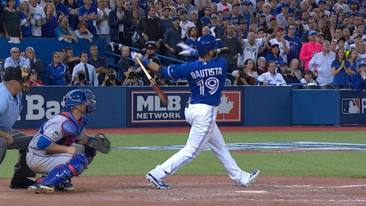 Jose Bautista belts game winning home run & pimps it with epic bat flip