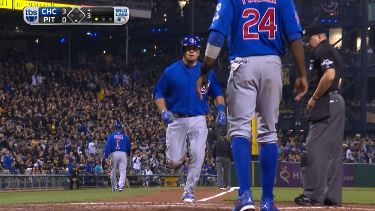 Kyle Schwarber crushes a homer out of PNC Park