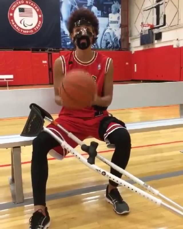 Lolo Jones is Derrick Rose for Halloween